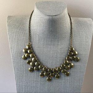 LC gold bubble statement necklace